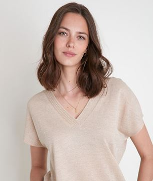 Picture of ILLIADE SHIMMERING PEACH T-SHIRT