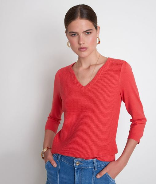 Picture of THEA RED DOUBLE-KNIT JUMPER