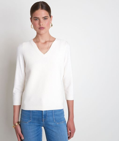 Picture of THEA ECRU DOUBLE-KNIT JUMPER