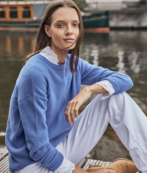 Picture of TIMEO BLUE CASHMERE JUMPER