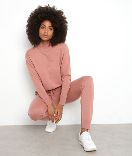 Picture of TIBO ROSE BLUSH HIGH-NECKED JUMPER