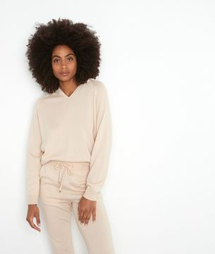 Picture of THOM BEIGE KNIT HOODED JUMPER