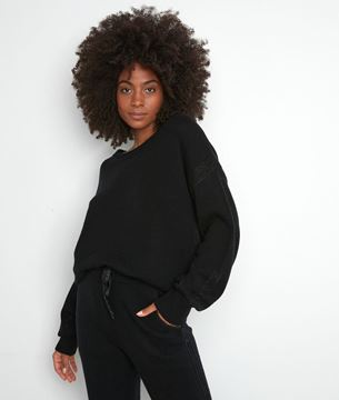 Picture of TOBBY BLACK RECYCLED WOOL JUMPER