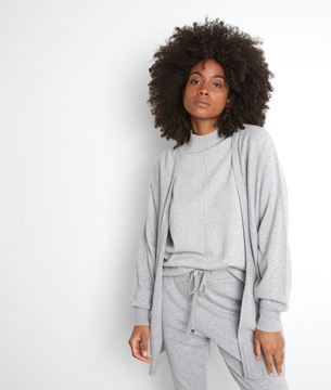 Picture of TERENCE LONG GREY MARL CARDIGAN