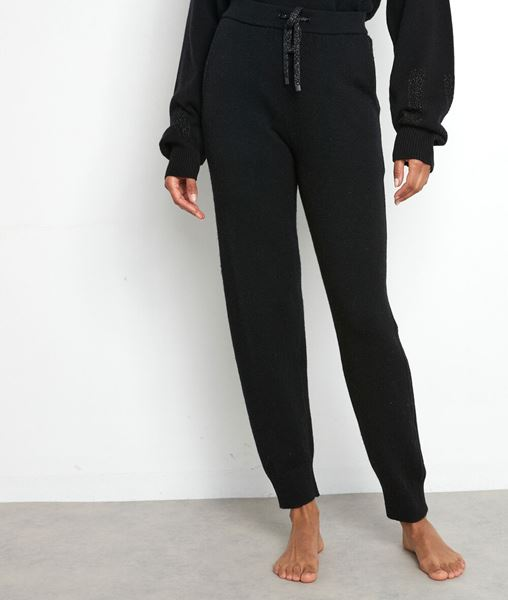 Picture of TOSCA BLACK KNIT TROUSERS