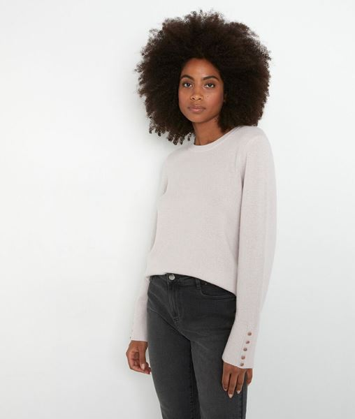 Picture of TIM CLASSIC PASTEL PINK RECYCLED CASHMERE JUMPER