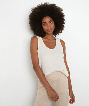 Picture of TEVA ECRU RECYCLED CASHMERE TANK TOP