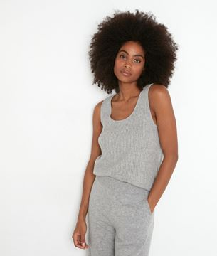 Picture of TEVA LIGHT GREY RECYCLED CASHMERE TANK TOP