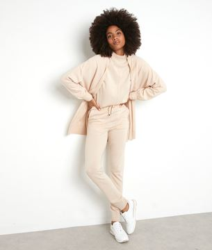 Picture of TAYLOR BEIGE KNIT TROUSERS