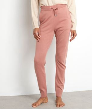 Picture of TAYLOR PASTEL PINK KNIT TROUSERS