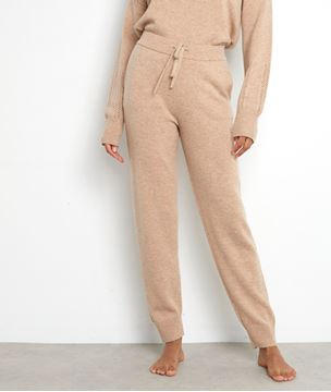 Picture of TOSCA BEIGE KNIT TROUSERS