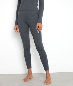 Picture of THEO LEGGING-STYLE TROUSERS IN ANTHRACITE RIBBED WOOL
